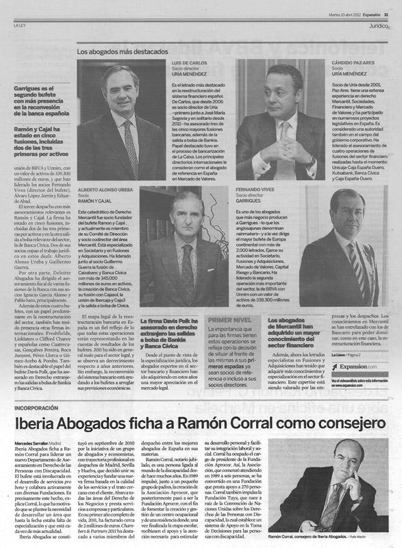 Iberia Abogados ficha a Ramón Corral como consejero